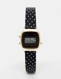 Небольшие цифровые часы с принтованным ремешком ASOS - Черный
