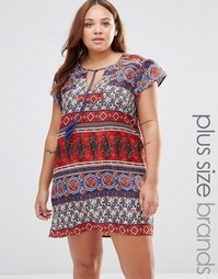 Цельнокройное платье с принтом пейсли Diya Plus - Мульти