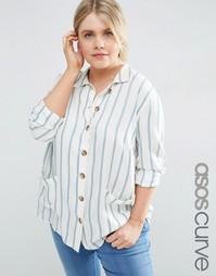Oversize-рубашка в полоску ASOS CURVE - Полоски