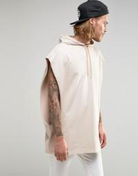 Oversize-футболка из плотного трикотажа с капюшоном ASOS