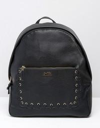 Эксклюзивный рюкзак с декоративной строчкой на кармане Faith - Черный