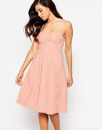 Платье миди для выпускного Lashes Of London - Peach