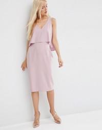 Двухслойное платье-футляр ASOS - Сиреневый
