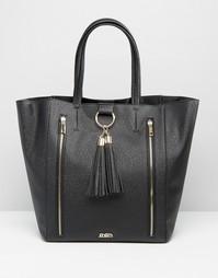 Эксклюзивная сумка‑тоут с кисточками Faith - Черный