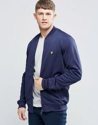 Темно-синяя спортивная куртка-пилот Lyle & Scott - Темно-синий