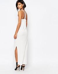 Платье макси с решетчатой спинкой Vero Moda - Белый