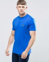 Голубая футболка с логотипом в виде орла Lyle & Scott - Lake blue