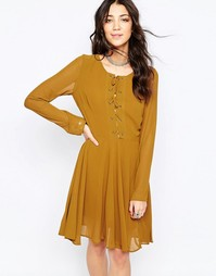 Приталенное платье Glamorous - Оливковый