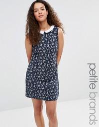 Цельнокройное платье с воротником Yumi Petite - Темно-синий