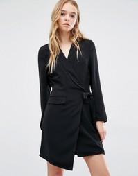 Платье-смокинг Neon Rose - Черный