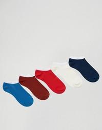 5 пар синих и красных спортивных носков ASOS - Мульти