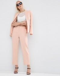 Фактурные зауженные брюки ASOS - Телесно-розовый