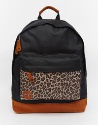 Черный рюкзак с леопардовой вставкой Mi-Pac - Черный