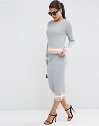 Комбинируемая полосатая юбка колор блок ASOS - Мульти