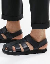 Черные кожаные сандалии Dune - Черный