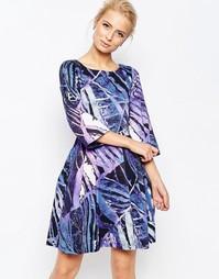 Платье с широкими рукавами и принтом Closet - Мульти