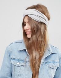 Массивная трикотажная повязка на голову ограниченной серии - Серый Asos