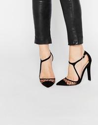Туфли на каблуке Paper Dolls Evangeline - Черный, сетчатая отделка