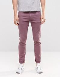 Зауженные джинсы фиолетового цвета ASOS - Фиолетовый