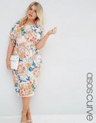 Платье с ярким цветочным принтом ASOS CURVE - Цветочный рисунок