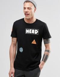 Черная футболка с аппликациями Cheap Monday - Черный