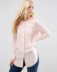 Блузка-туника без воротника с контрастным кантом ASOS - Розовый