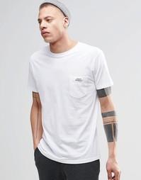 Белая классическая футболка с логотипом на кармане Cheap Monday