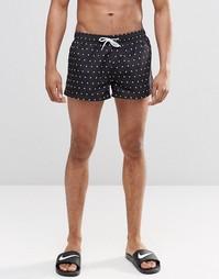 Короткие шорты в горошек Swells - Черный