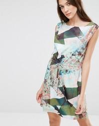 Цельнокройное платье с геометрическим принтом Lavand - Зеленый