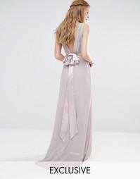 Декорированное платье макси с бантиками сзади TFNC WEDDING
