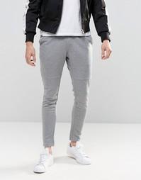 Облегающие трикотажные брюки Jack & Jones - Серый