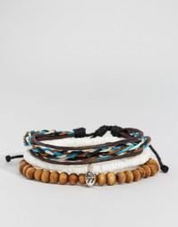 Набор браслетов с плетением и бусинами Classics 77 - Мульти