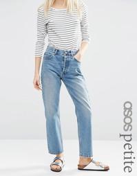 Прямые выбеленные джинсы ASOS PETITE Authentic - Синий