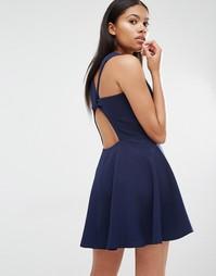Приталенное платье Love - Темно-синий