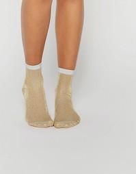 Носки с блестками ASOS - Золотой