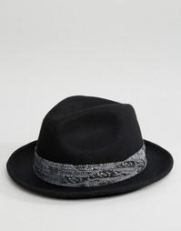 Мягкая фетровая шляпа с контрастной отделкой Reclaimed Vintage