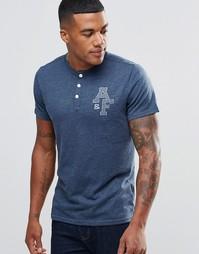 Облегающая футболка хенли с принтом A&F Abercrombie & Fitch