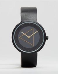 ASOS Watch With Minimal Gold Geo Face - Черный