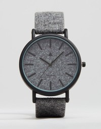 ASOS Watch In Charcoal Felt - Серый