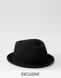 Фетровая шляпа Reclaimed Vintage - Черный