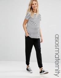 Трикотажные брюки-галифе для беременных со шнурком ASOS Maternity