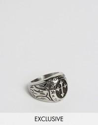 Массивное кольцо с крестом Seven London эксклюзивно для ASOS