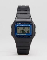 Черные цифровые часы Casio F105W-1AUZ - Черный