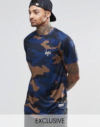 Футболка с камуфляжным принтом Hype - Синий