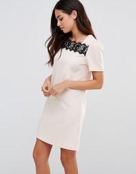 Платье-туника с кружевной отделкой Paper Dolls - Кремовый