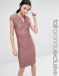 Облегающее платье в рубчик Y.A.S Tall - Mauve