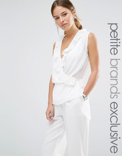 Блузка без рукавов с запахом спереди и оборками Alter Petite