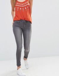 Облегающие джинсы с классической талией Only Royal - Серый