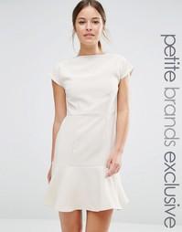 Платье с баской по краю Alter Petite - Кремовый