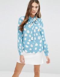 Рубашка с узором YMC - Нежно-голубой